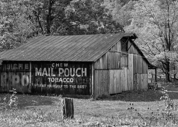 West Virginia Greeting Card featuring the photograph West Virginia Barn Monochrome by Steve Harrington