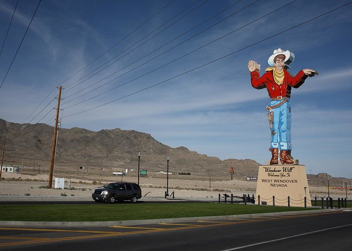 America Greeting Card featuring the photograph West Wendover Nevada by Frank Romeo