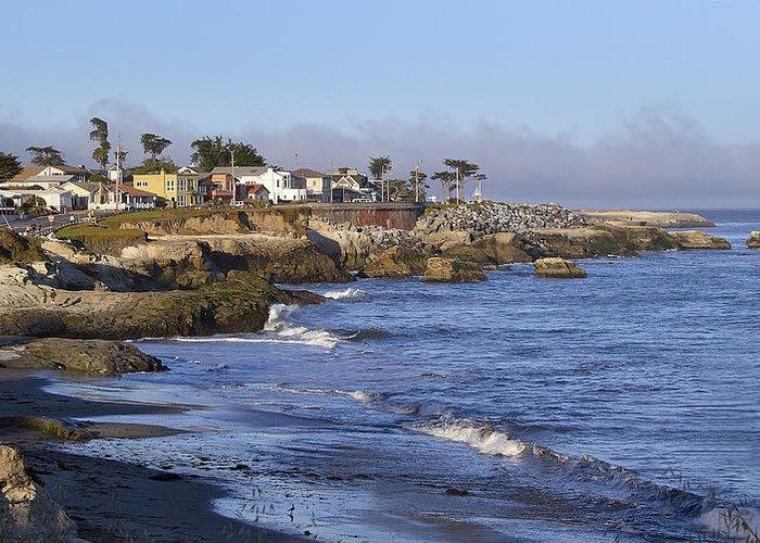 Santa Greeting Card featuring the photograph Westcliff Drive - Santa Cruz - California by Brendan Reals