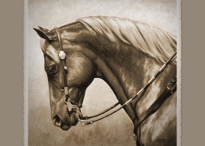 Western Pleasure Horse Greeting Cards