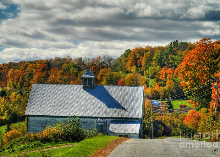 Maine Scenic Photography Greeting Card featuring the photograph Western Maine Barn by Alana Ranney