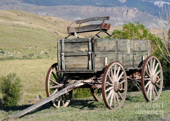 Landscape Greeting Card featuring the photograph Western Wagon by Sabrina L Ryan