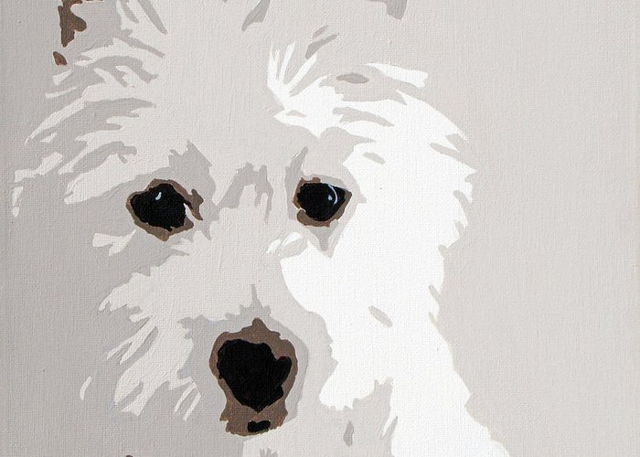 Westie Greeting Card featuring the painting Westie by Slade Roberts