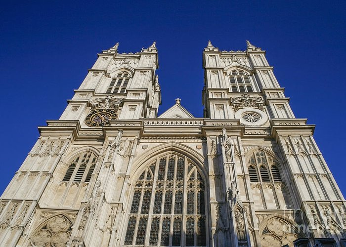 Abbey Greeting Card featuring the photograph Westminster Abbey by Patricia Hofmeester