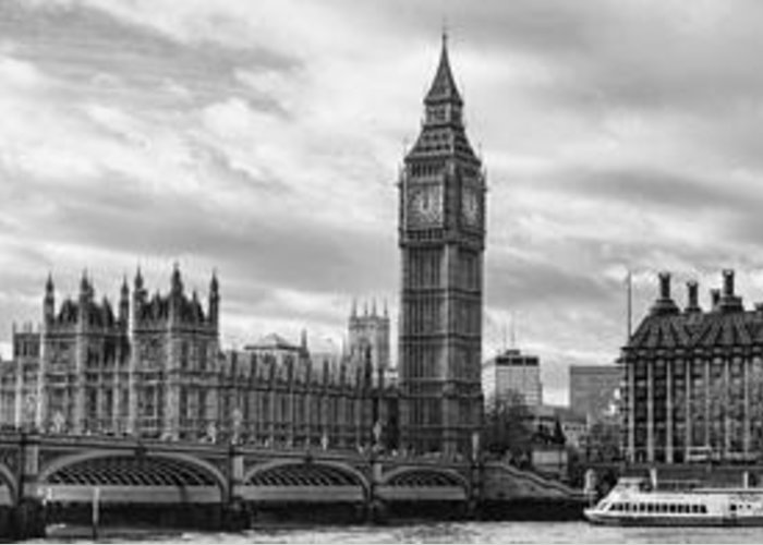 London Greeting Card featuring the photograph Westminster Panorama by Heather Applegate