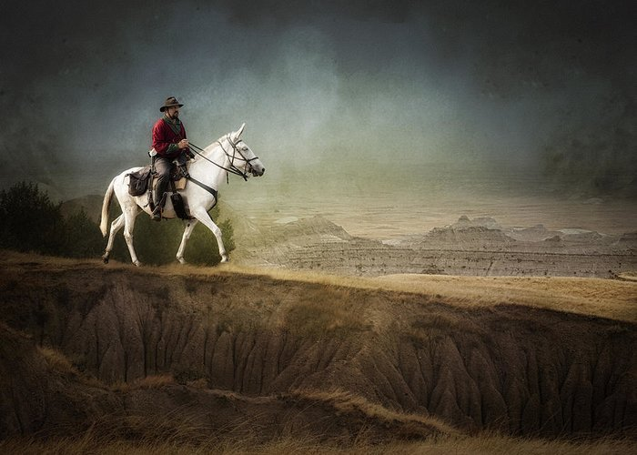 Landscape Greeting Card featuring the photograph Westward by Ron McGinnis