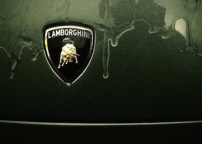 Wet Lambo Emblem Greeting Card For Sale By Catalin Buzlea