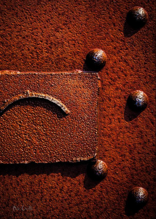 Abstract Greeting Card featuring the photograph Wet Rust by Bob Orsillo