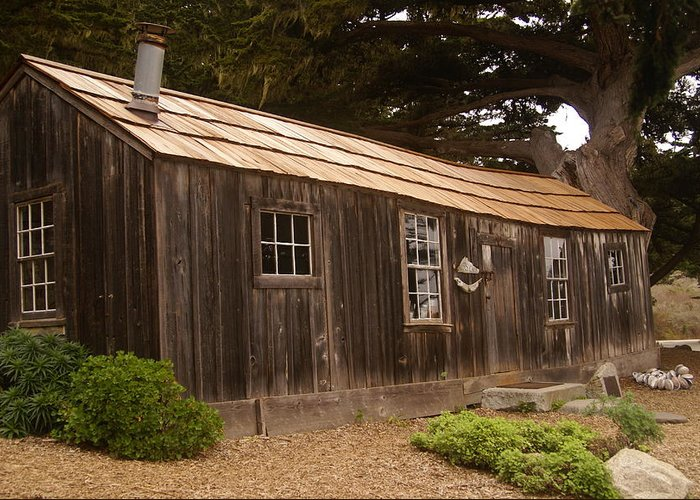 Whalers Cabin Greeting Card featuring the digital art Whalers Cabin by Barbara Snyder