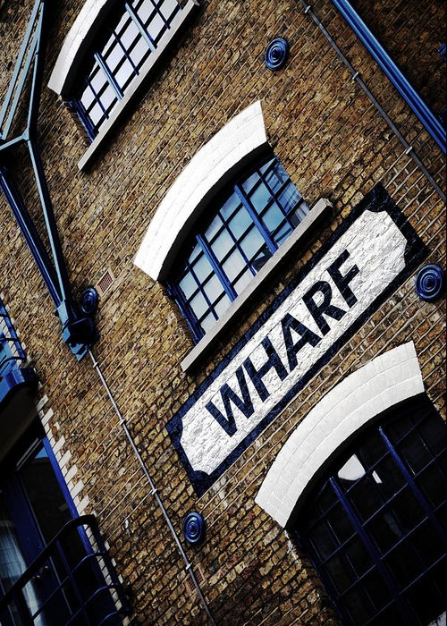 Building Greeting Card featuring the photograph Wharf by Mark Rogan