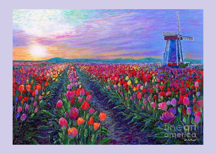Pink Tulip Greeting Cards