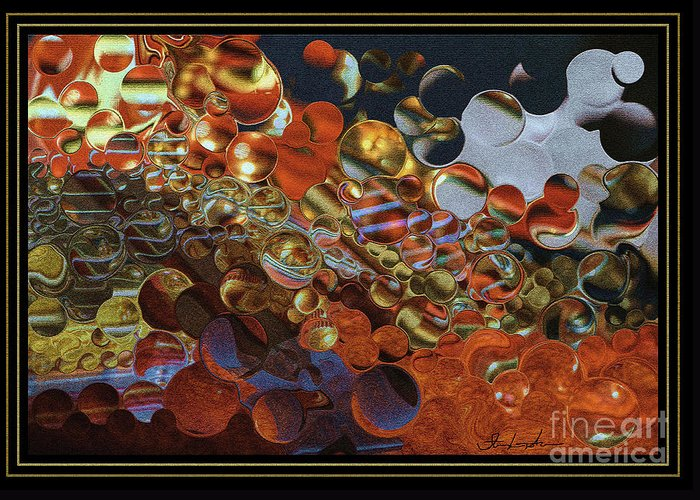 Abstract Greeting Card featuring the digital art What Is Going On By Steven Langston by Steven Lebron Langston