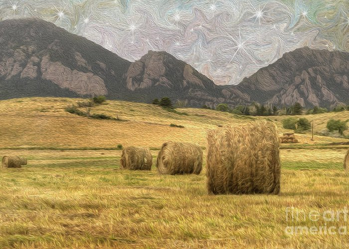 Agriculture Greeting Card featuring the photograph What The Hay by Juli Scalzi