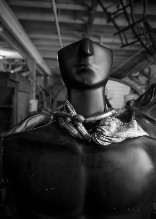 Mannequin Greeting Card featuring the photograph What Will Become Of The Watcher by Bob Orsillo