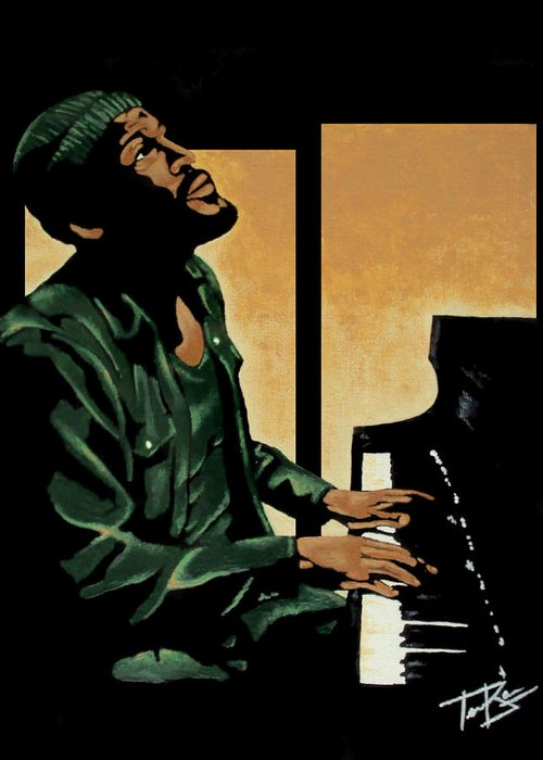 Marvin Gaye Greeting Card featuring the painting What's Goin' On by Tory Bass