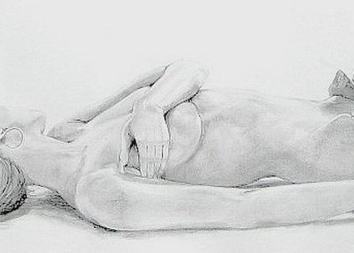 Sexy Greeting Card featuring the drawing What's Sexy by Linda Weldon