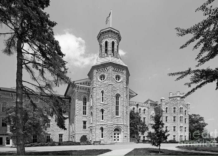 American Greeting Card featuring the photograph Wheaton College Blanchard Hall by University Icons