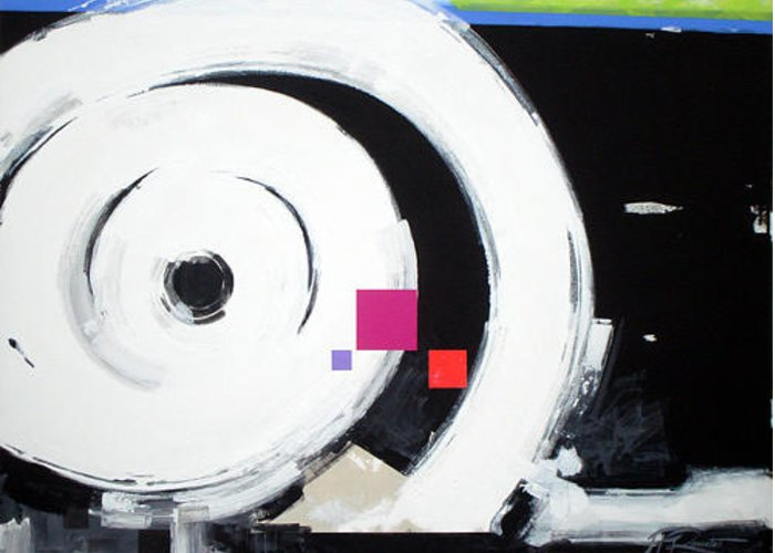 Abstract Greeting Card featuring the painting Wheel of Fortune by Jean Pierre Rousselet