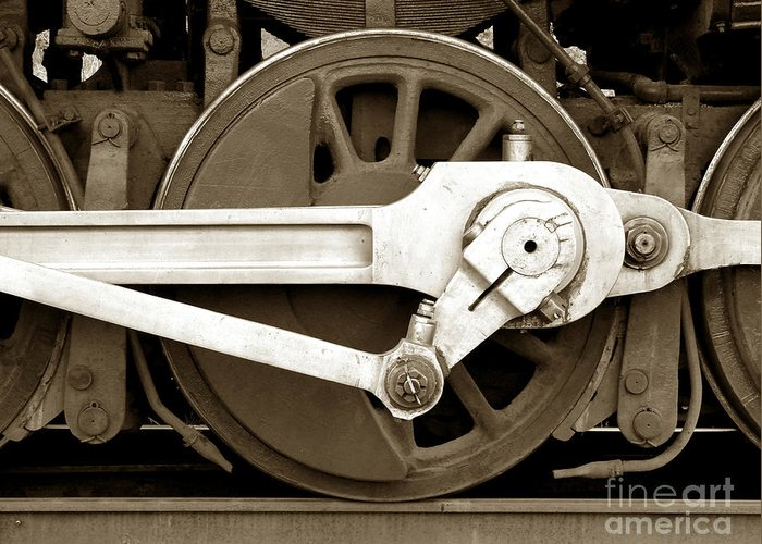 Locomotive Greeting Card featuring the photograph Wheel Power by Olivier Le Queinec