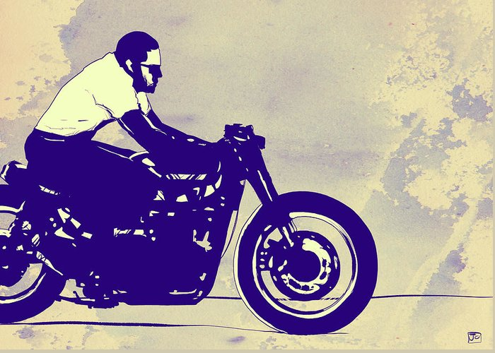 Motorcycles Drawings Greeting Cards