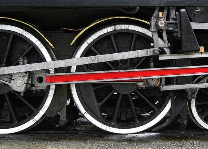Kingston Flyer Greeting Card featuring the photograph Wheels Of The Kingston Flyer by Joe Bonita