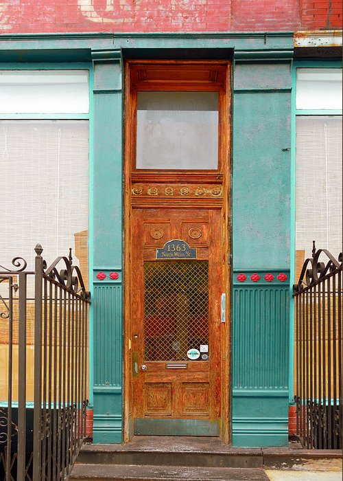 Chicago Greeting Card featuring the photograph When One Door Closes by Christine Till