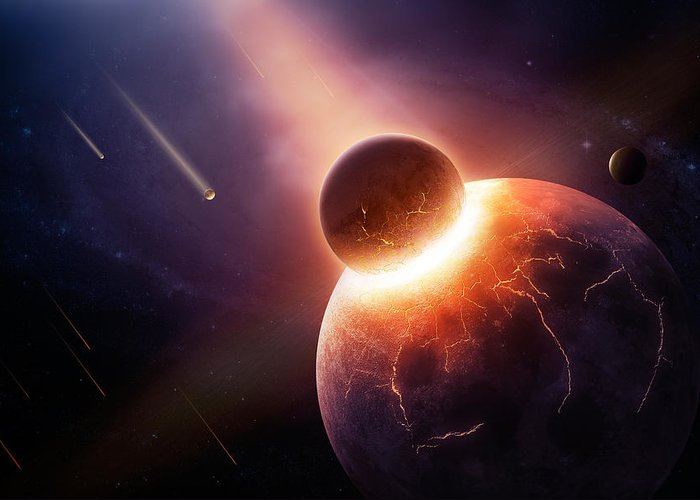 Earth Greeting Card featuring the photograph When Planets Collide by Johan Swanepoel