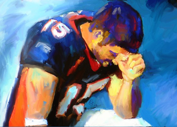 Tebow Mixed Media Greeting Cards