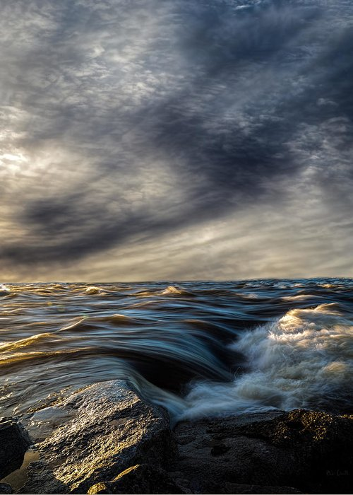 Nature Greeting Card featuring the photograph Where The River Kisses The Sea by Bob Orsillo