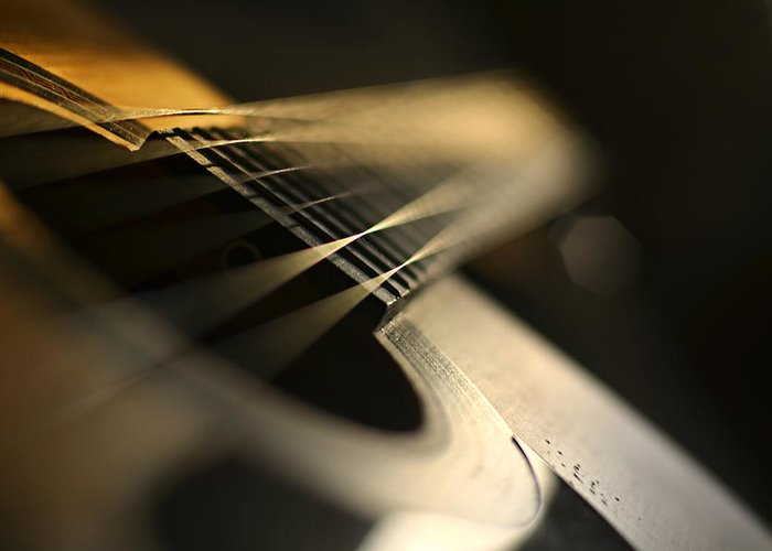 Laura Fasulo Greeting Card featuring the photograph While My Guitar Gently Weeps by Laura Fasulo