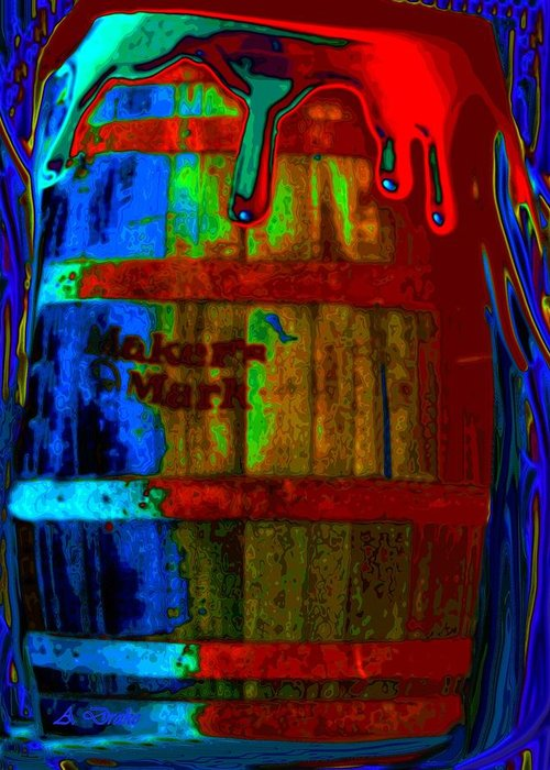Whiskey Greeting Card featuring the digital art Whiskey A Go Go by Alec Drake