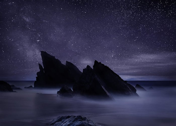 Night Greeting Card featuring the photograph Whispers of eternity by Jorge Maia