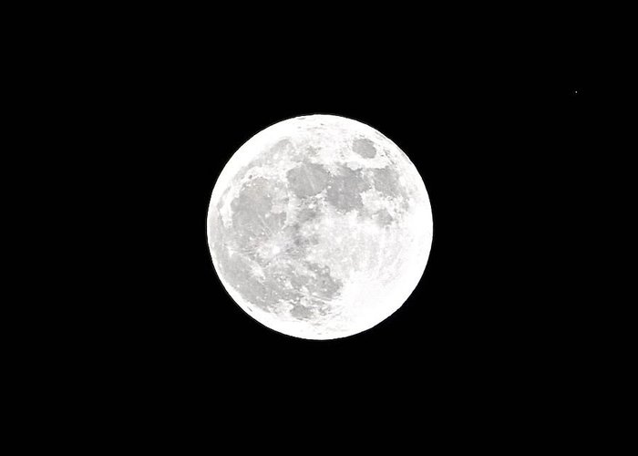 White Balance Greeting Card featuring the photograph White Balance Full Moon by Bridgette Gomes