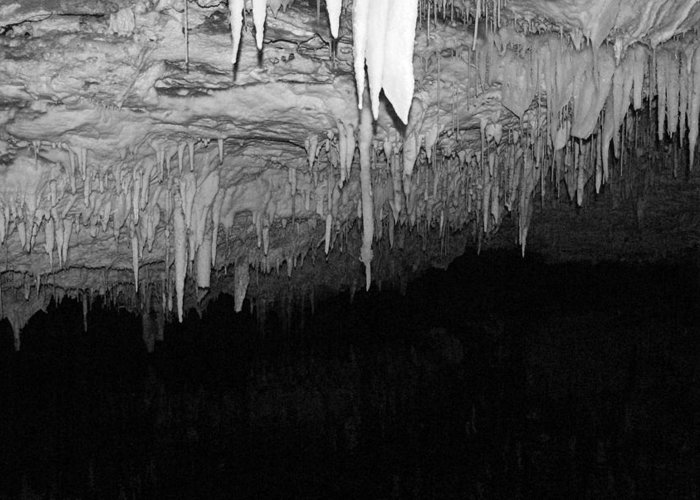 Cave Greeting Card featuring the photograph White Cave Needles by Gregory Lafferty