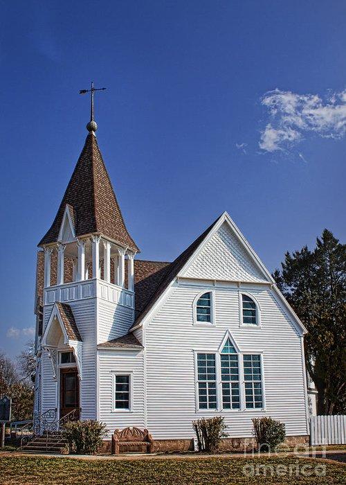 White Church Greeting Card featuring the photograph White Church by Elena Nosyreva