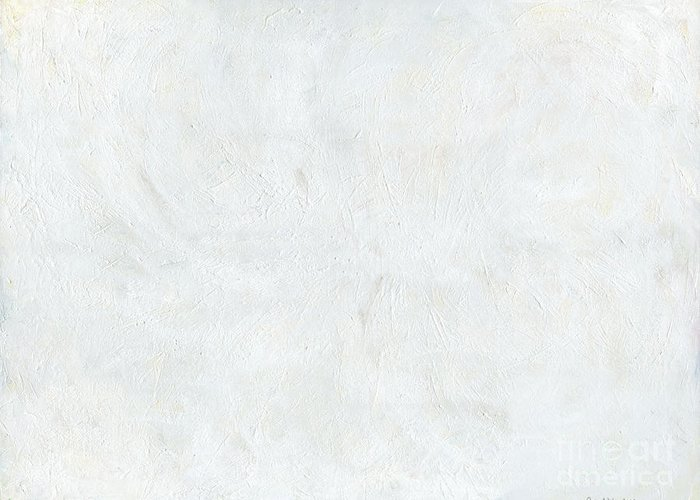 White Greeting Card featuring the painting White Color Of Energy by Ania Milo
