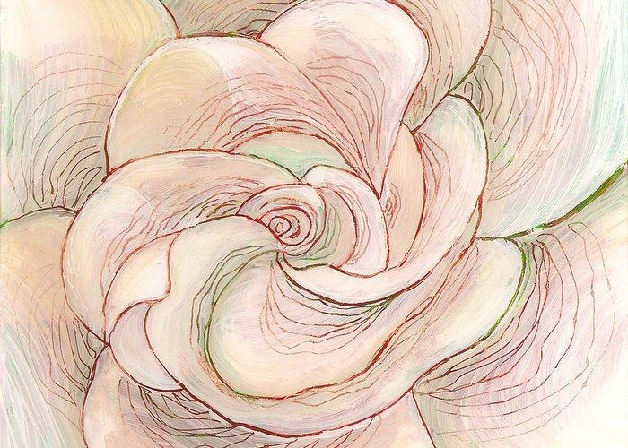 White Gardenia Greeting Card featuring the painting White Gardenia 1 by Anna Skaradzinska