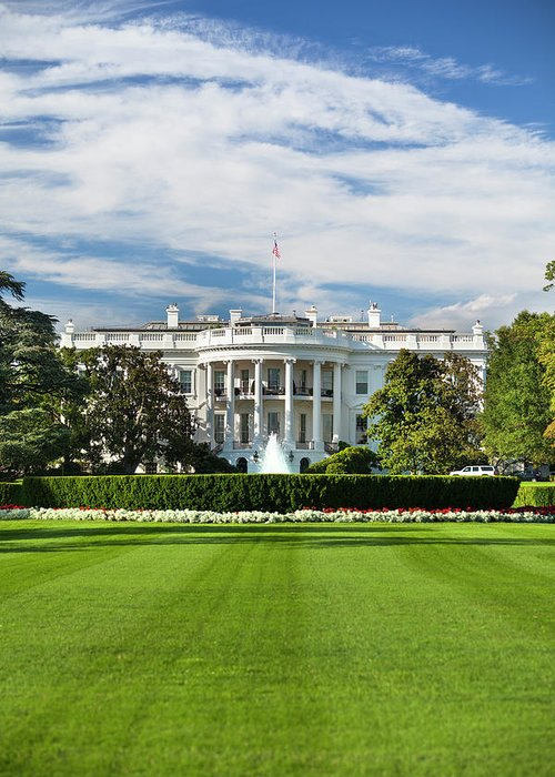 Democracy Greeting Card featuring the photograph White House by Pgiam