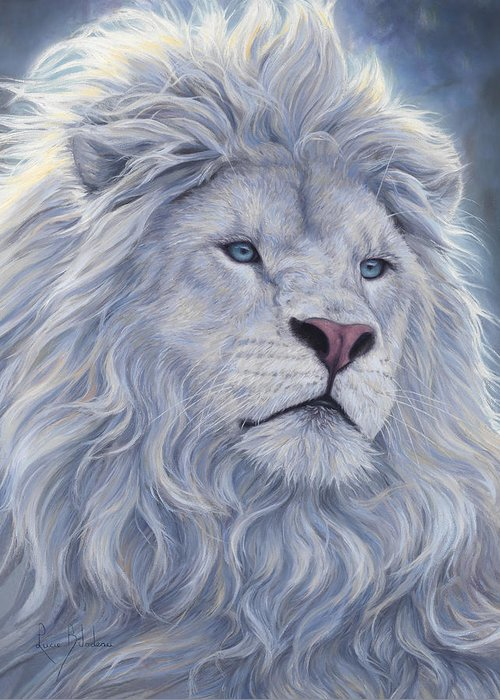 White Lion Greeting Cards