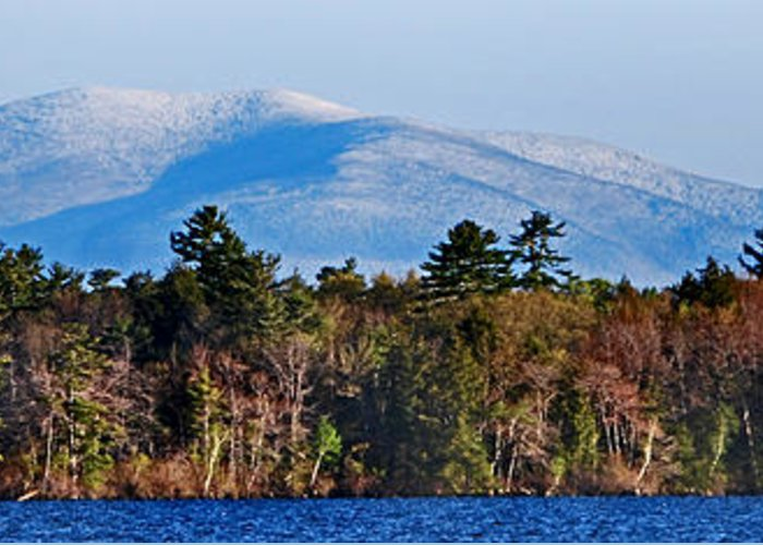 Scenic Tours Greeting Card featuring the photograph White Mountains by Skip Willits