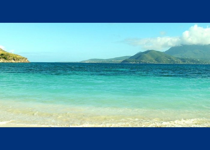 St Kitts Greeting Card featuring the photograph White Sand Blue Sky Blue Water by Ian MacDonald