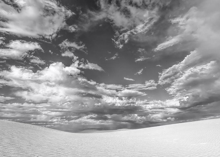 White Sands Greeting Card featuring the photograph White Sands Drama by Diana Powell