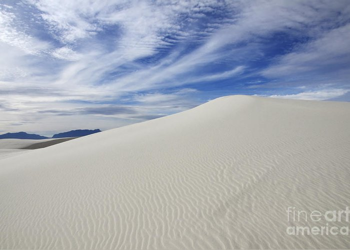 White Sand Dunes Greeting Card featuring the photograph White Sands National Monument Big Dune by Bob Christopher