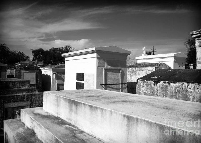 White Tombs Greeting Card featuring the photograph White Tombs by John Rizzuto