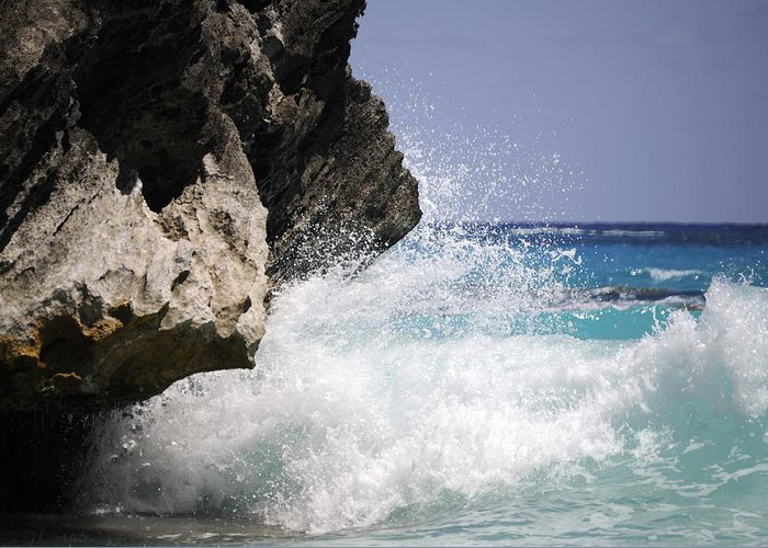 Bermuda Greeting Card featuring the photograph White Water Paradise by Luke Moore