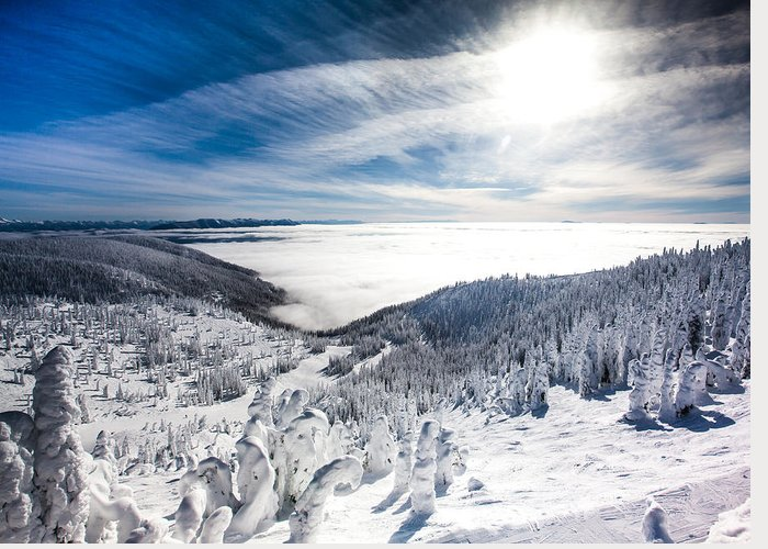 Sun Greeting Card featuring the photograph Whitefish Inversion by Aaron Aldrich