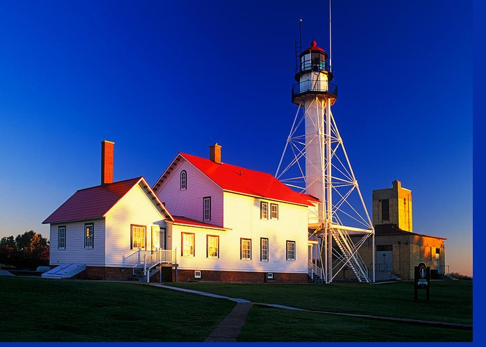 Active Greeting Card featuring the photograph Whitefish Point Lighthouse by David Davis