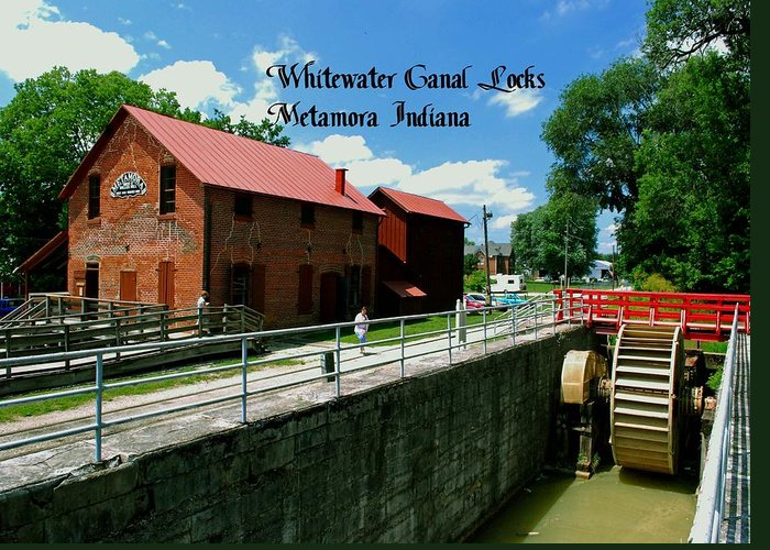United Greeting Card featuring the photograph Whitewater Canal Locks by Gary Wonning