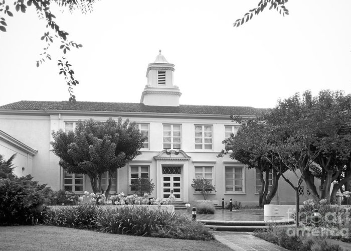 American Greeting Card featuring the photograph Whittier College Hoover Hall by University Icons