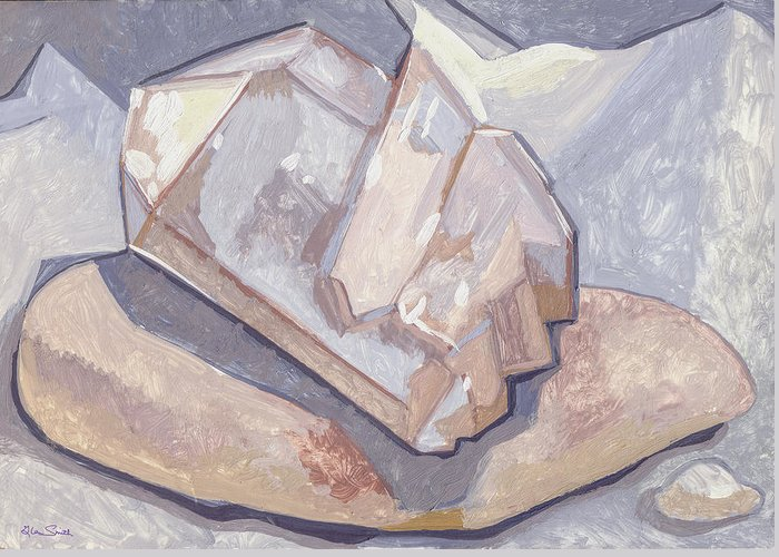 Stone Greeting Card featuring the painting Who Is On Top Who Is On Base by Richard Glen Smith